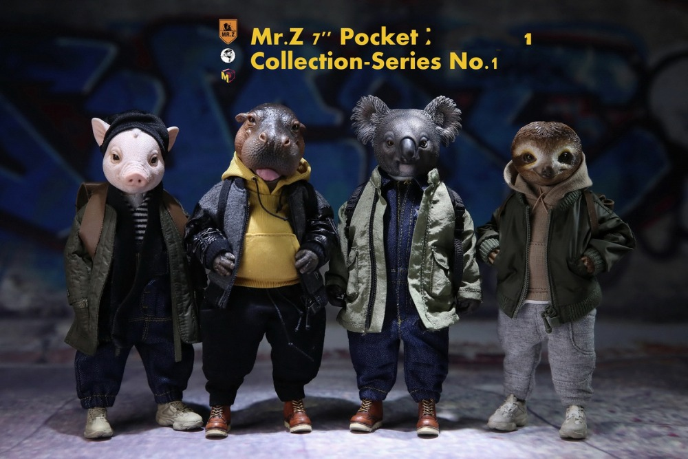 7 Pocket Collection Zoo topia Series No.1Cute Animal Figure Toys Model WoHe Ma/LaLa Ko /Slothy Su /Porky Zhu With Base Box image