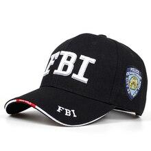 2019 New FBI embroidered baseball cap men women's hip hop fashion cotton dad hats outdoor sunshade hat adjustable sports caps