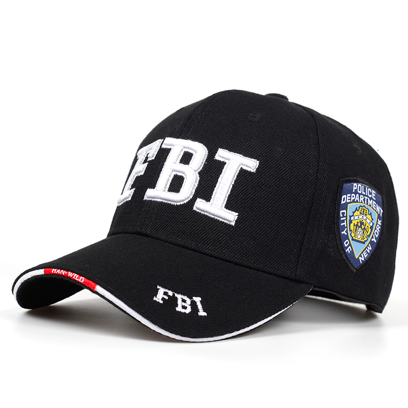 2019 New FBI embroidered   baseball     cap   men women's hip hop fashion cotton dad hats outdoor sunshade hat adjustable sports   caps