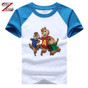 Alvin og The Chipmunks motiv på t-skjorte