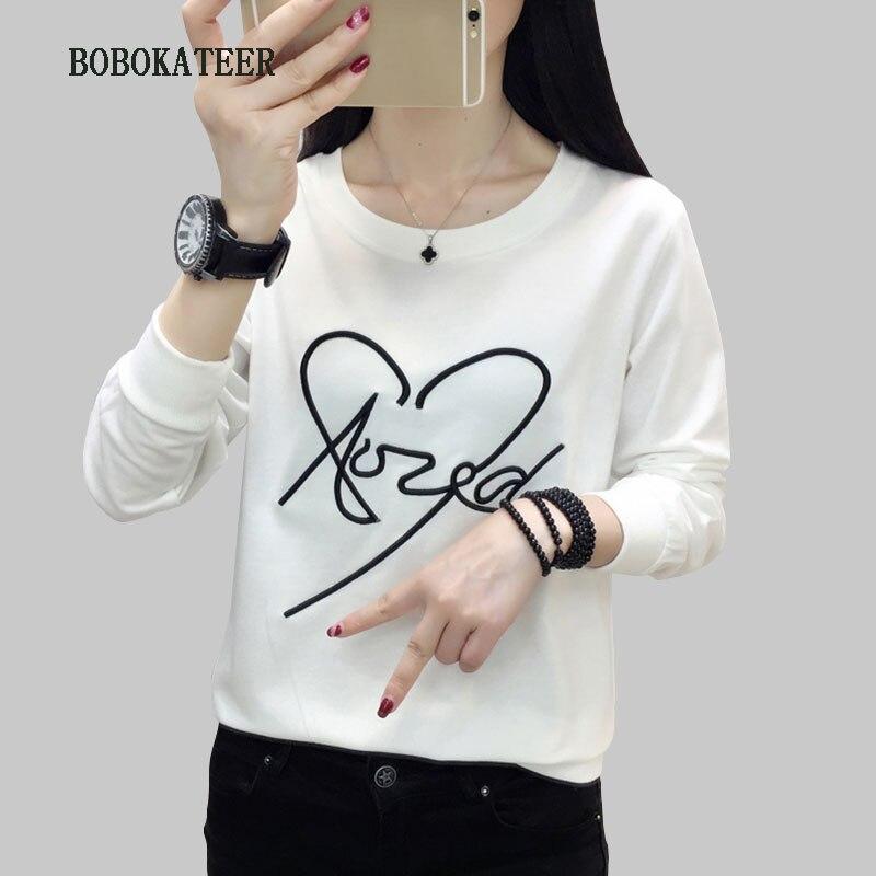 Manches longues t-shirt femme blanc t-shirt femmes t-shirt ample haut femme sexy t-shirt femme t-shirt camisetas verano mujer 2019