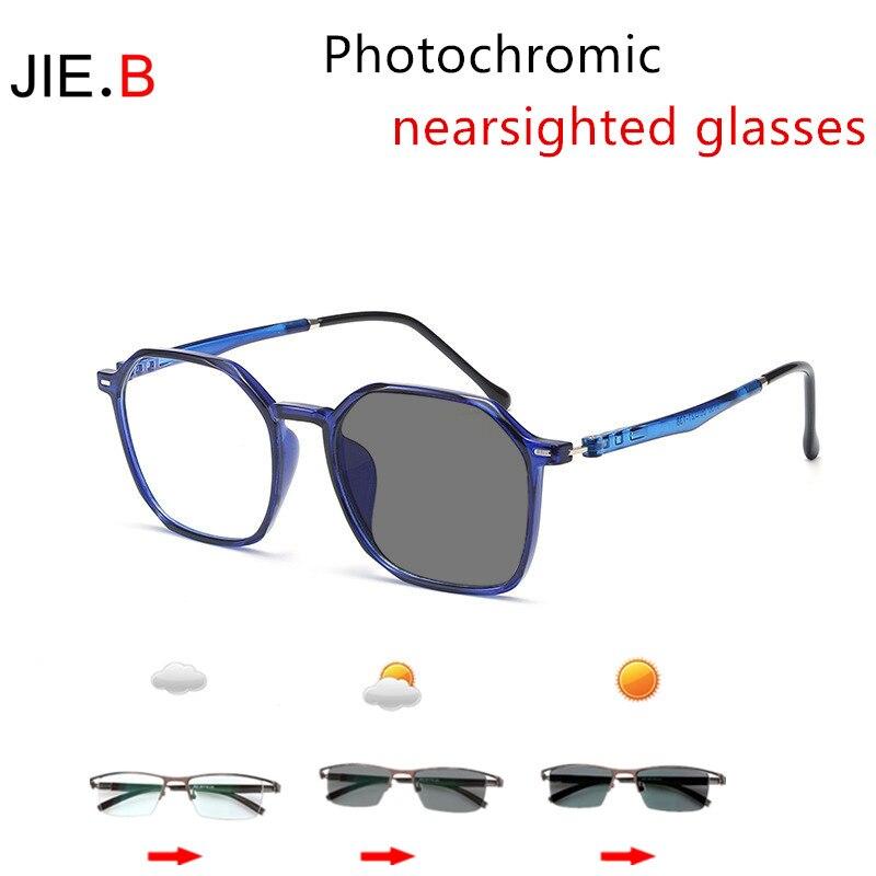 JI E.B trend, miopía fotocrómica, protección ocular para ordenador, gafas unisex para conducir, gafas de sol anti ultravioleta, lentes de color 0 --- 600