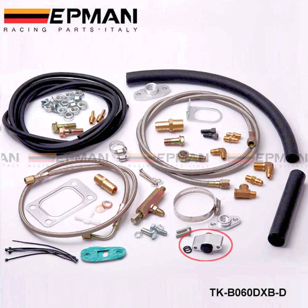 "Turbo Oil Line Kit Feed Return Drain 4AN AN-4 1//8/"" NPT T3T4 T04E Universal"