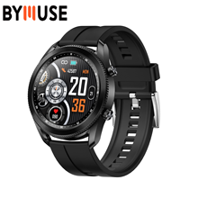 Смарт-часы BYMUSE TK88 мужские с поворотным экраном, Bluetooth, прогнозом погоды и измерением давления в крови