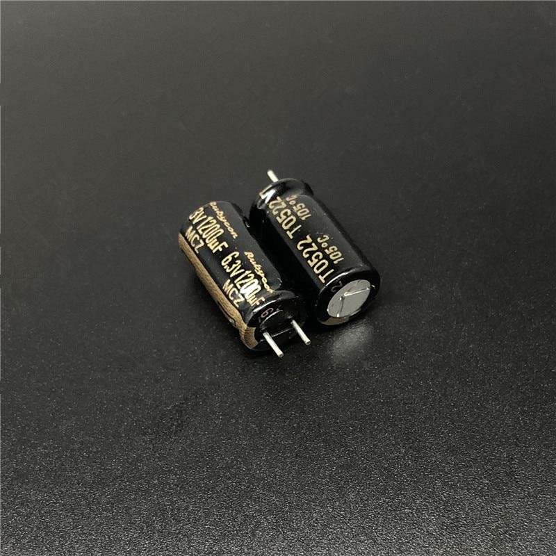 25 Nichicon 1200uF 25V low profile  Low impedance 105℃ Electrolytic Capacitors