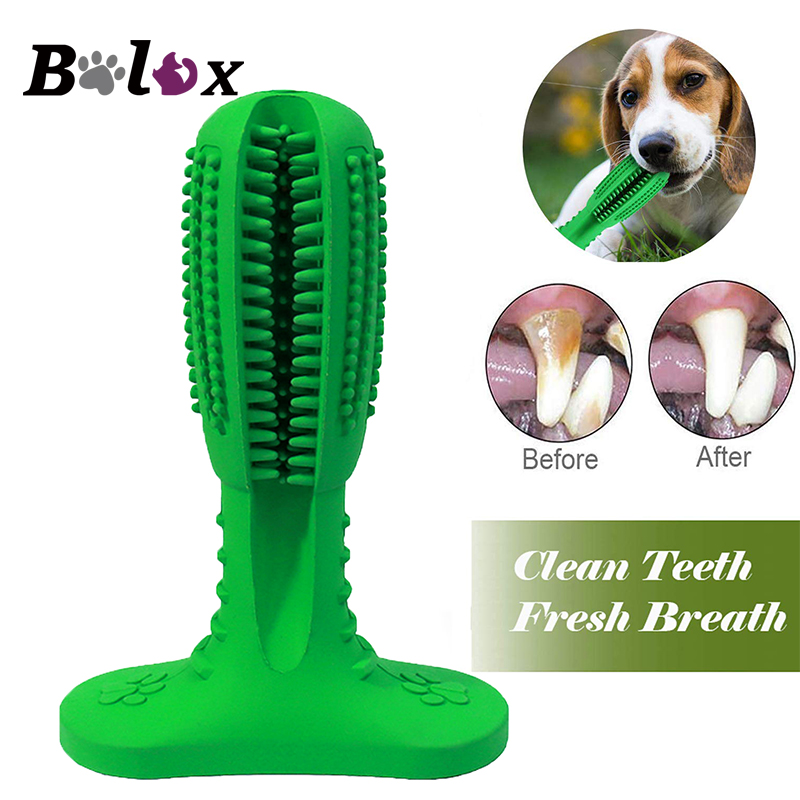 Dog toothbrush Pet dog Chew Toys Brushing Puppy Teething Brush for Doggy Pets Oral Care Stick Bite Toy for Dog Supplies image
