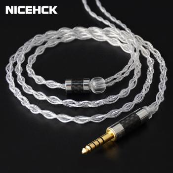 Kabel NICEHCK LitzPS 4N Litz czyste srebro ulepszony kabel do słuchawek 3 5 2 5 4 4 MMCX NX7 MK3 QDC 0 78mm 2Pin do LZ A7 KXXS ZAX MK3 tanie i dobre opinie CN (pochodzenie) Słuchawki Kable 1 2m±3cm 4N Pure Silver 3 5mm 2 5mm 4 4mm MMCX 0 78mm 2Pin QDC 2Pin NX7 2Pin 2020