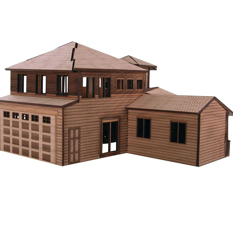 Town House Villa Building Vector Design Files For CNC Laser Cutting Wood Acrylic Engraving Drawing