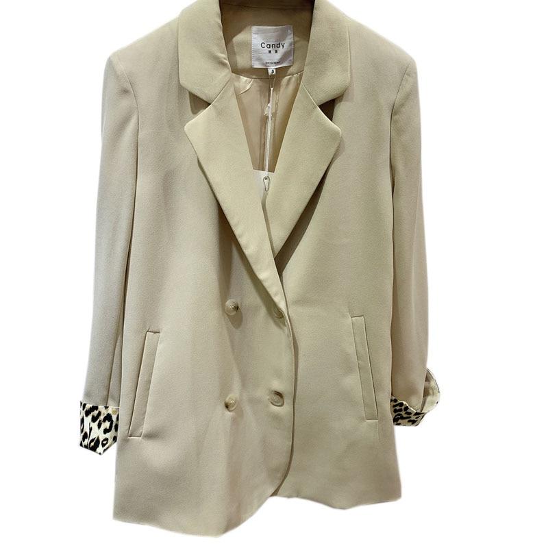 Korean Stylish Ladies Blazer Solid Green Loose Casual Suit Jacket Simple Blazers Mujer Retro Spring Women Jacket New MM60NXZ