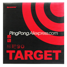 Sanwei Target 90 (90% Sticky) Tafeltennis Rubber Originele Sanwei Target Ping Pong Spons