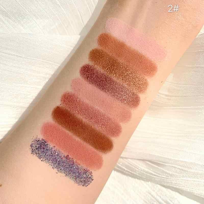 1Pcs Make Matte 9 Kleuren Oogschaduw Glitter Waterdicht Gemakkelijk Te Dragen Pigment Parel Oogschaduw Palet Cosmetica oogschaduw TSLM1