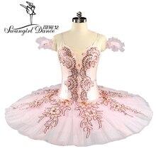 Professional Ballet Tutu Pink Women Nutcracker Fairy Doll Stage Costumes Sleeping Beauty Pancake BT9153