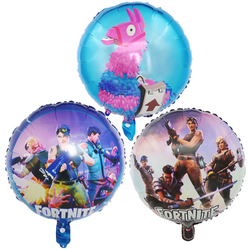18 Inch Fortnite Game Foil Balloon Esports Carnival Game Party Decoration Reusable Balloon Kid Birthday Toys Gift 45CM 1
