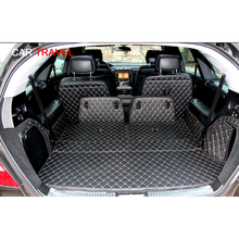 Special trunk mats for Mercedes Benz R 350 W251 6 seats 2017 2006 waterproof boot carpets cargo liner mat for R350,Free shipping