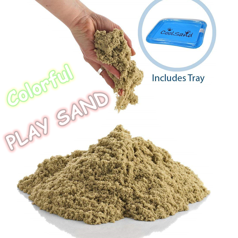 100g Dynamic Sand Play Toys Magic Running Fun Space Beach Motion Play Sand Slime Supplies  Model Tools Antistress Kids Toys Set