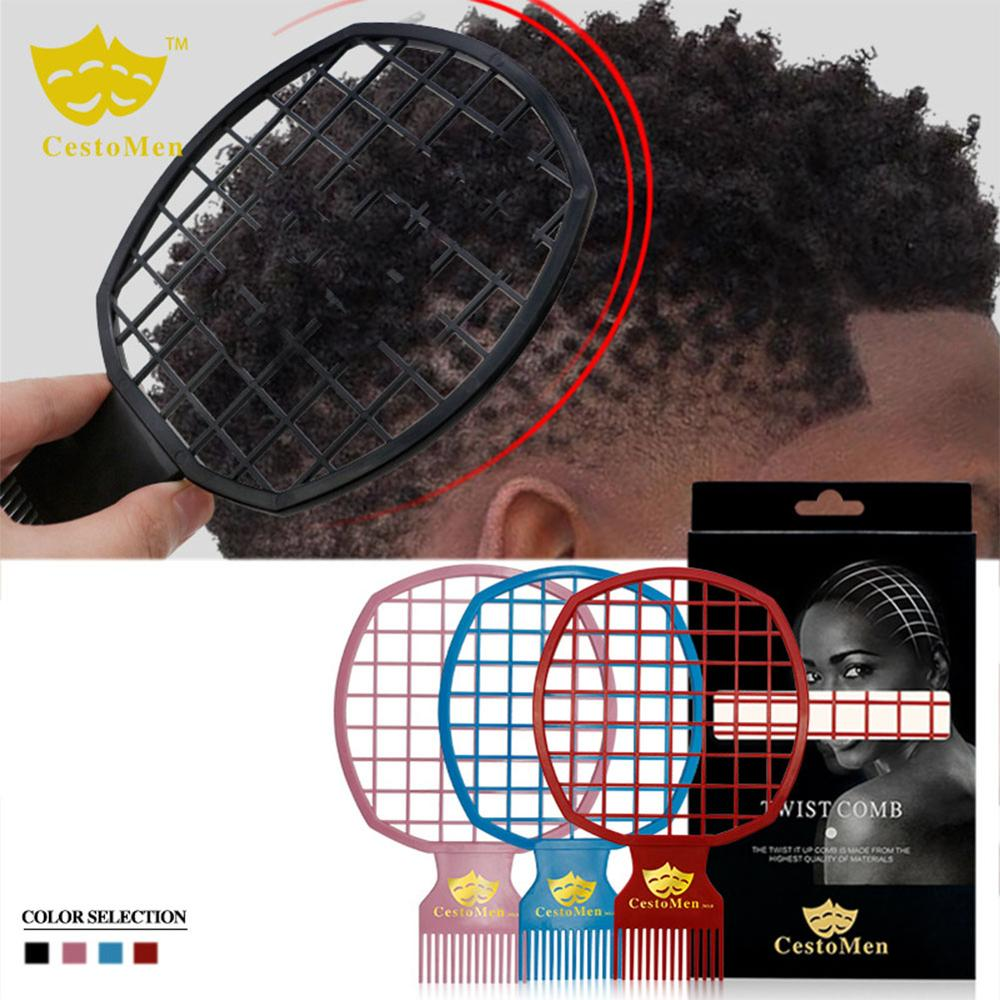 2 In 1 Dirty Braid Comb Afro Twist Hair Comb African Men's Hairdressing Afro Professional Comb Twist Wave Curly Brush Comb