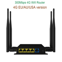 300Mbps 4G LTE Router With EU/AU/USA Version 4 LAN Port Wifi Router Support SIM Card Wireless Router With 4 External Antennas