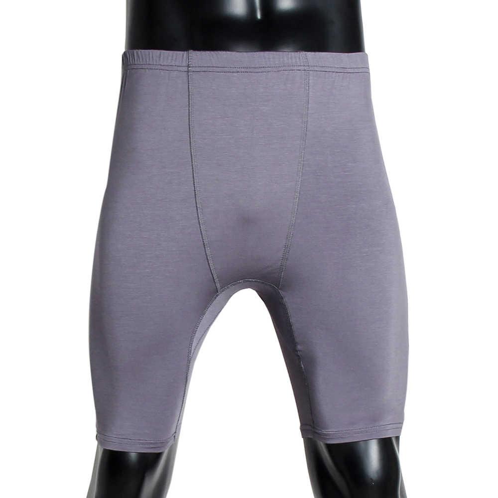 אופנה Mens מכנסיים מכנסיים התחת מתאגרף תחתוני תחתוני מוסלמי האסלאמי גברים עלייה נמוכה אלסטי מותן קצר מכנסיים Clubwear חדר כושר ספורט