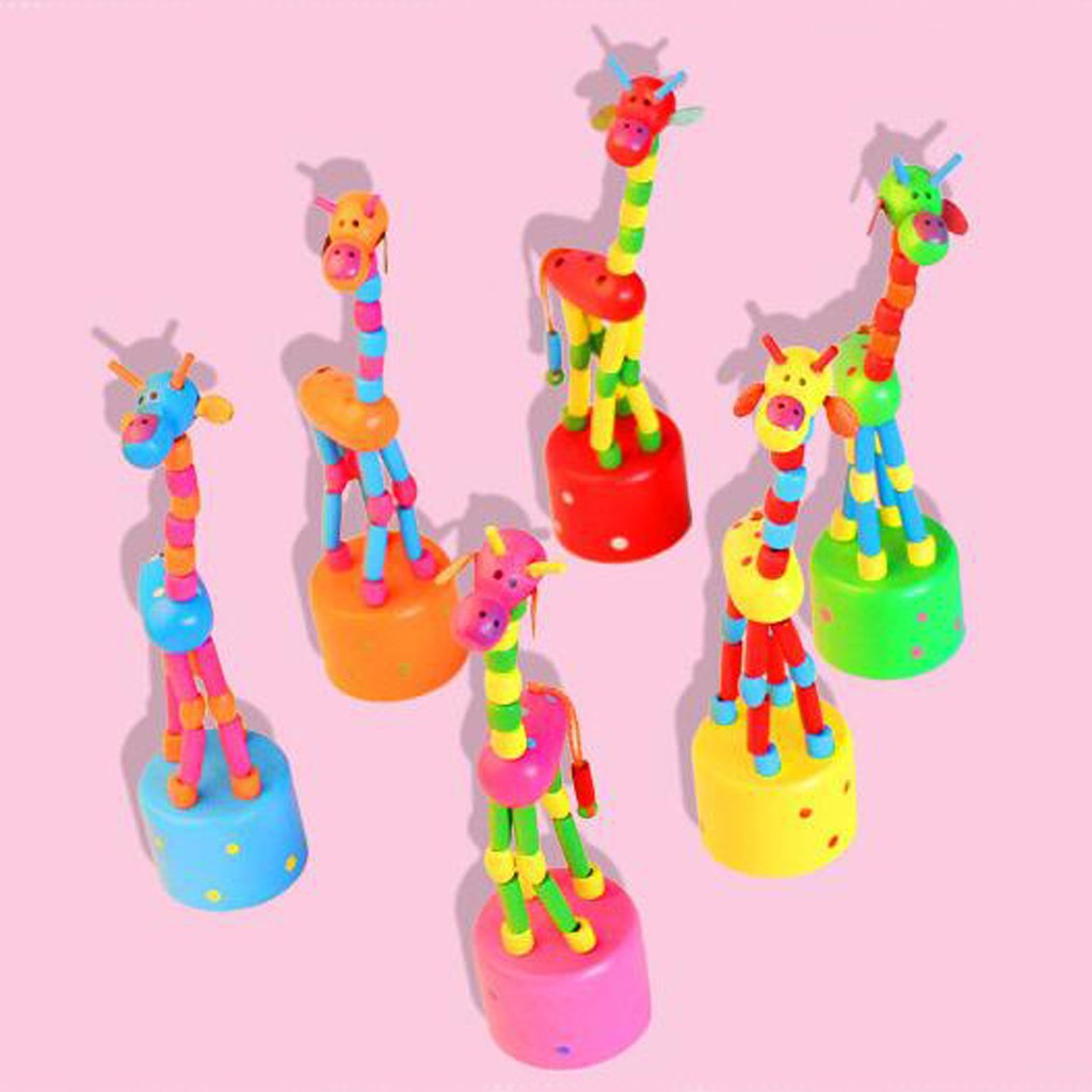 Toys For Children Kids Intelligence Toy Dancing Stand Colorful Rocking Giraffe Wooden Toy Kids Toys Baby Toy Juguetes Para Ninos
