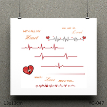 AZSG Heart beat sound Clear Stamps/seal for DIY Scrapbooking/Card Making/Photo Album Decoration Supplies