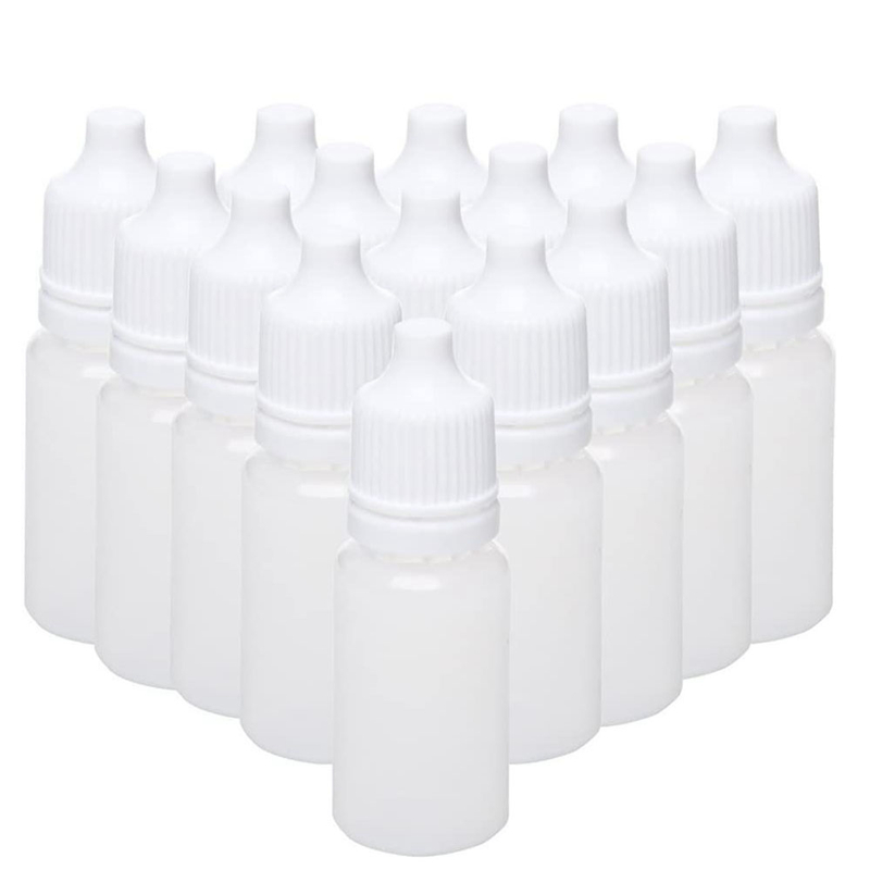 100PCS 15Ml Empty Plastic Squeezable Dropper Bottles Eye Liquid Dropper Refillable Bottles