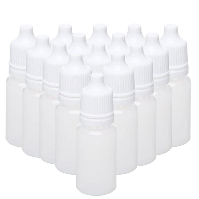 100PCS 15Ml Empty Plastic Squeezable Dropper Bottles Eye Liquid Dropper Refillable Bottles