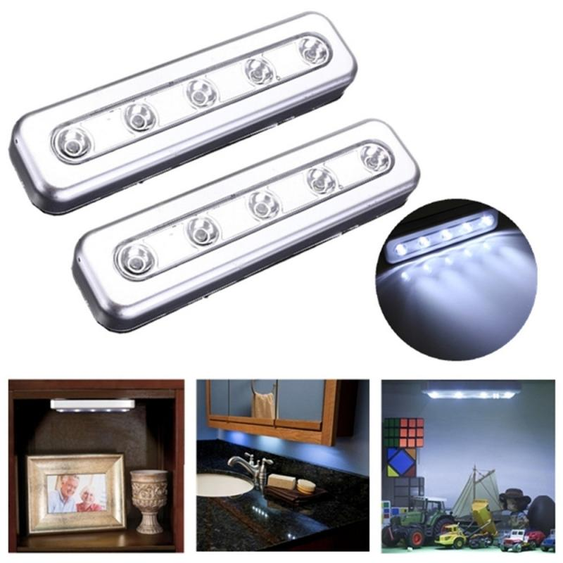 Bright 5 LED Wireless Cabinet Light For Kitchen Bedroom Cupboard Drawer Closet Wardrobe Lighting Easy To Install Night Light