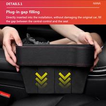2 szt Organizator samochodu szczeliny w siedzeniach etui do przechowywania w obudowie do samochodu po stronie fotela szczelina na portfel przy telefonie monety klucze do większości typów samochodów tanie tanio AOZBZ 26cm Compact 570g 16 8cm