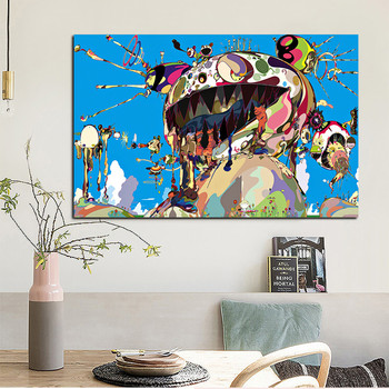 Modern Takashis Murakami Canvas Painting Wall Art Pictures Tan Tan Bo Puking for Living   Room Home Decoration Poster and Print 1