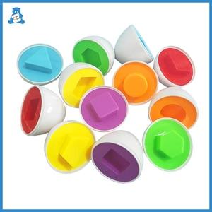 6Pcs Montessori Learning Education Math Toys Smart Eggs 3D Puzzle Game Mixed Shape Eggs Jigsaw Toys for Children Random Colors