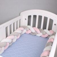 2 متر/3 متر/4 متر الوليد سرير بيبي الوفير الرضع سرير حامي النسيج عقدة أفخم الطفل سرير واقي مصد السيارة الرضع وسادة غرفة ديكور