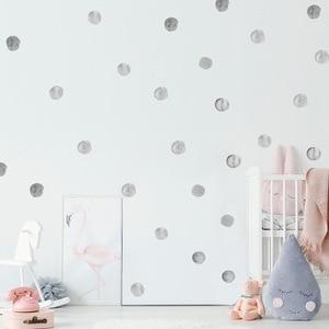 Image 5 - 36 قطعة/المجموعة المائية نقطة ملصقات الحائط للأطفال غرف الديكور DIY تتلاشى المقاومة للمنزل غرفة نوم ديكور
