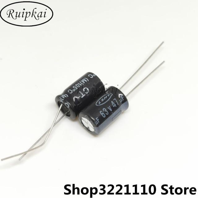 50 Pcs 47 Uf 63V 8X12 Mm Aluminium Elektrolytische Condensator 63V 47 Uf 8*12mm Ct Serie 105 Temperatuur Levensverwachting 10000H