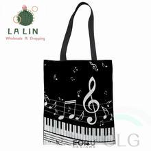 Лялина пианино музыка нота печати для женщин из хлопка и льна