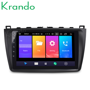 Krando Android 9.0 10.1 Full touch car radio navigation system for Mazda 3 2009-2013 multimedia player gps No 2din DVD image