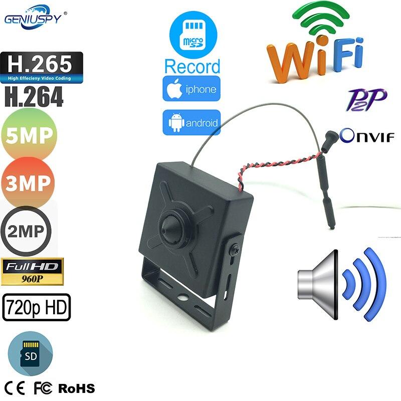 Mini câmera p2p do ip de wifi do mini wifi com a câmera sem fio do ap de wifi do entalhe para cartão do sd com áudio geniuspy 720p 960p 1080p 3mp camhi