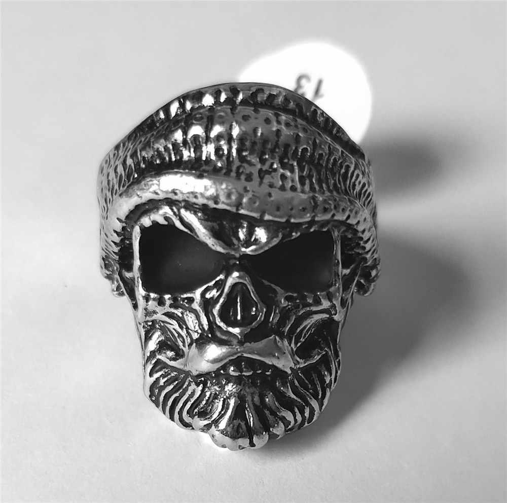 Готическое мужское кольцо, новая мода, капитан Джек, пират, шляпа, Череп, капитан, кольцо, Пираты Карибы, кольцо с черепом для мужчин