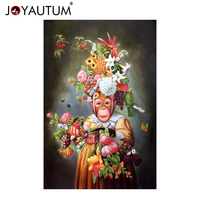 European style hand painted oil painting still life fruit oil painting monkey fruit decorative painting background wall painting