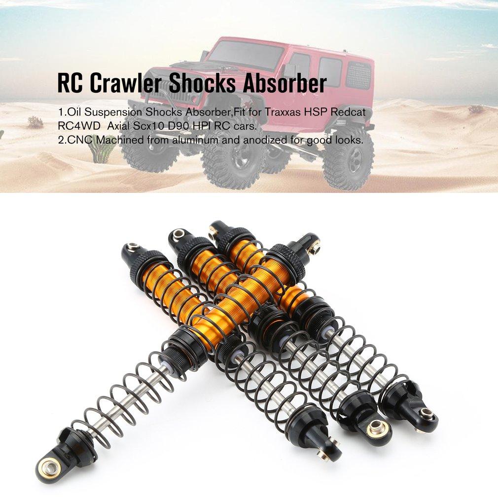 4 шт. RC Рок Гусеничный металлический масляный амортизатор подвески 70 мм-120 мм для Scx10 D90 Рейф Trx-4 90046 RC автомобиля