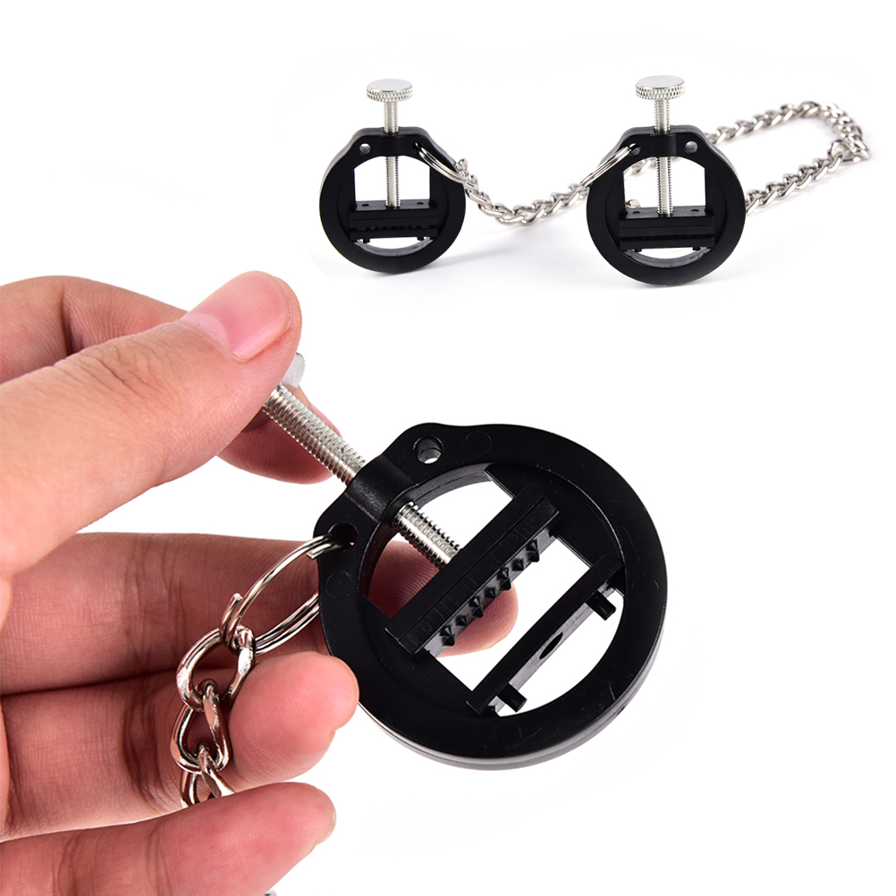 1PCS 30CM Stainless Steel Ajustable Breast Nipple Clamps Clips Female Bdsm Bondage Sex Exotic Accessories For Couples