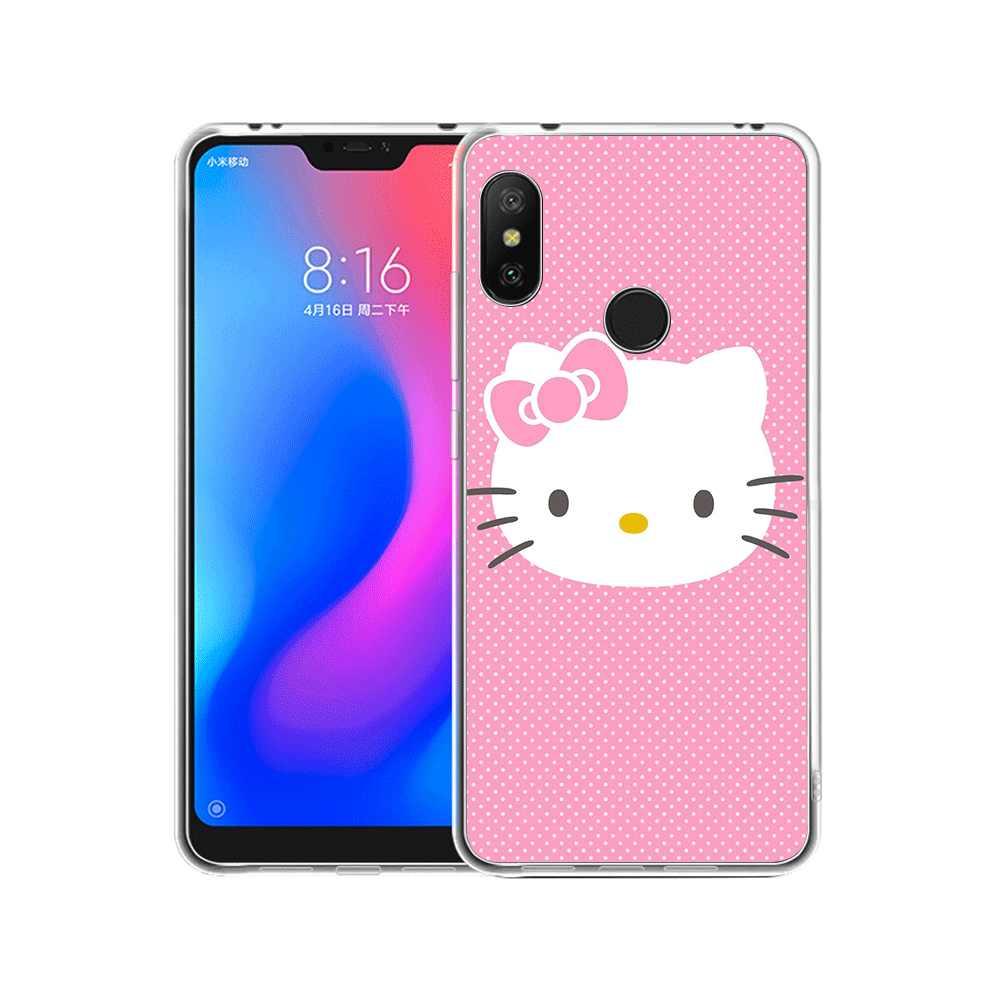 Funda para teléfono móvil para Xiaomi Redmi Note 8 6 7 5 Pro Xiaomi 4 4X 5A funda encantadora Rosa hola kitty lindo