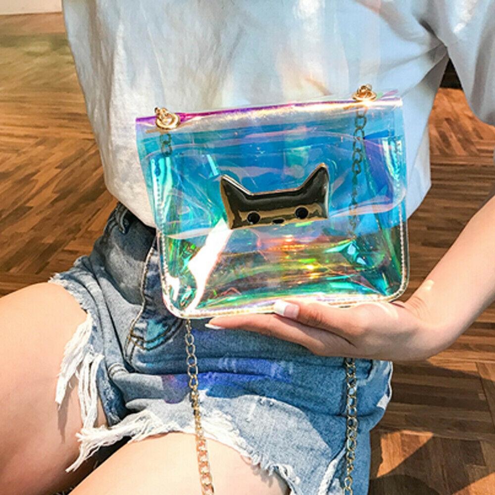 Fashion Women Shoulder Bag Fashion Laser Transparent Crossbody Bags Messenger Shoulder Beach Bag 2019 New Design Shoulder Bags
