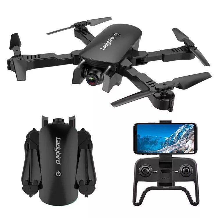 Cross Border Folding Unmanned Aerial Vehicle 4K High-definition Double Camera Remote-control Four-axis Aircraft Optical Flow Rem