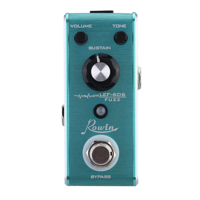 Rowin LEF-606 Guitar Effect Pedal Fuzz Mini Portable True Bypass Guitar Parts Accessories Guitarra Instrument Cable Pedal Board image