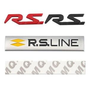 Image 5 - ملصق سيارة RS ملصق شعار لرينو RS Line كليو ميجان ذو المناظر الطبيعية الخلابة لاغونا لوجان كوليوس سانديرو سافران فيلساتيس أركانا تاليسمان