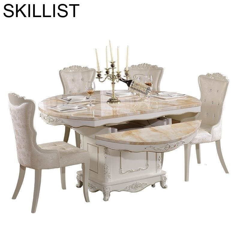 Eet Tafel Pliante Set De Salle A Manger Moderne Meja Makan Tavolo European Desk Mesa Comedor Bureau Tablo Dining Room Table
