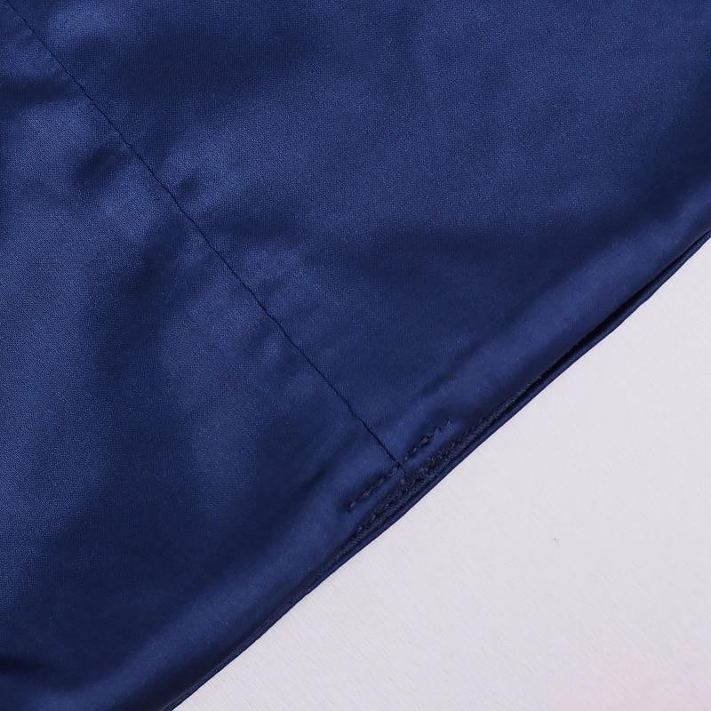Robe d'été en Satin bleu uni, épaules dénudées, Sexy, dos nu