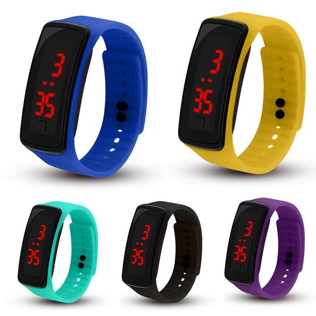 Children Watch Kids Silicone Band LED Screen Electronic Kids Watch Digital Sports Watch kids watches montre enfant детские часы 1