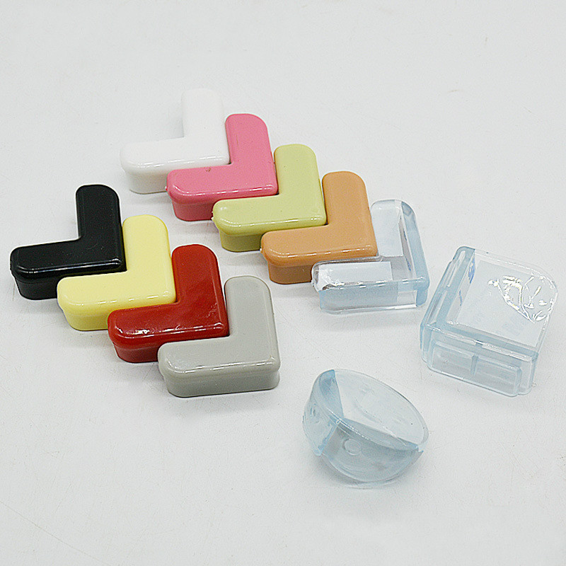 4pcs Baby Safety Silicone Protector Right Angle Table Corner Edge Safety Protection Cover Children Furnitures Corner Guards