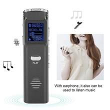 8 gb portátil mp3 gravador de áudio gravação de voz digital com fone de ouvido suporte usb carregamento grabadora de voz gravador de som